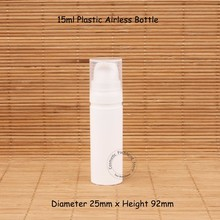 50 шт./лот 15 мл Белый Пластик безвоздушного лосьон насоса спрей бутылку 1/2 унц. крем эмульсия контейнеры многоразового упаковки