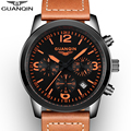 2016 GUANQIN Top Brand Men Watches Male Waterproof Quartz Watch With Calendar For Outdoor Sport relogio masculino