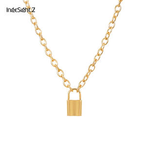 IngeSight.Z Pendant Necklace Long Chain Jewelry