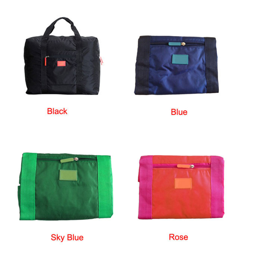 New Nylon Foldable Travel Bag Unisex Large Capacity Bag Luggage Women WaterProof Handbags Men Travel Bags Drop Shipping 2019 in Storage Bags from Home Garden