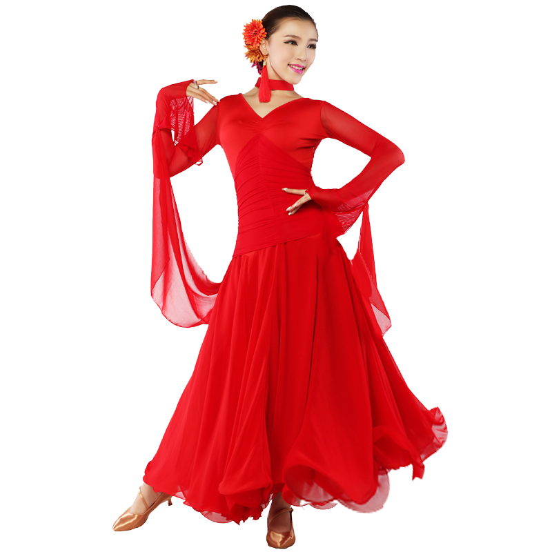70e3ad13b new big hemlines Modern dance costumes ballroom dance competition ...