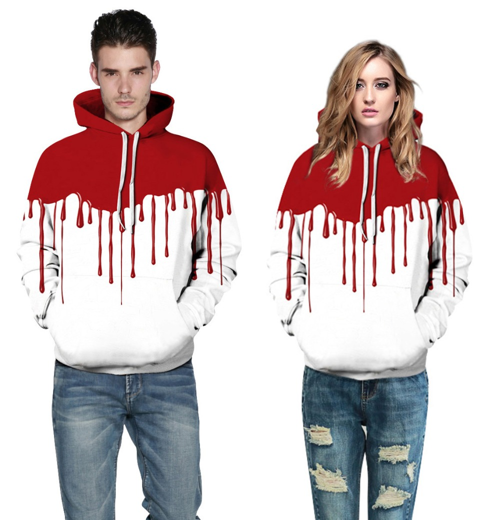 New Halloween 3D Print Hoodies Men&Women Autumn Winter Spring Hooded Sweatshirt Blood Casual Loose Pullover Tracksuit