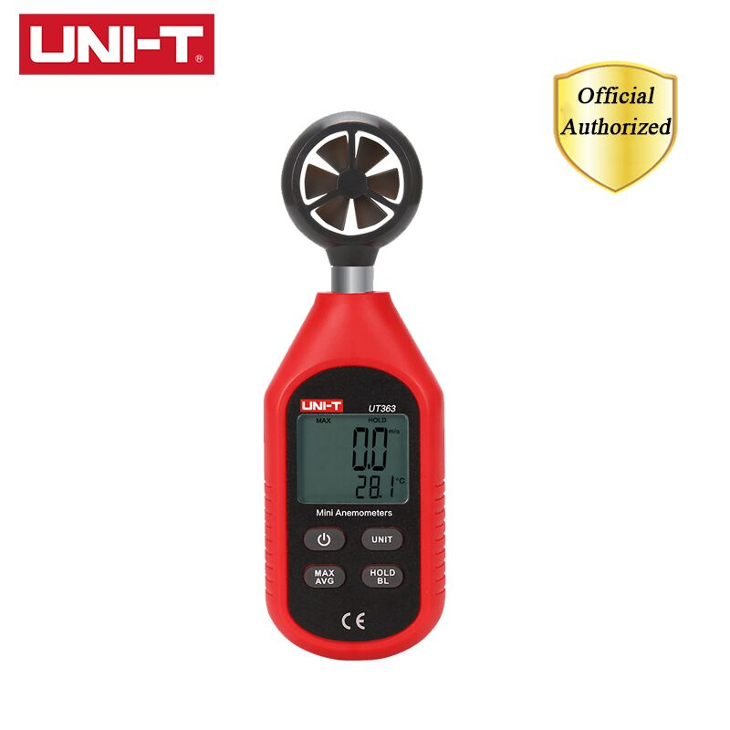 UNI-T UT363 Handheld Anemometer Mini Digital Wind Speed Measurement Temperature Tester Air Flow Speed Wind Meter LCD Backlight