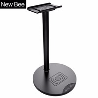 New Bee Newest Headphone Wireless Charging Stand Holder Headphone Stand Holder Fashion Display For Headphones Bracket