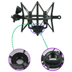 Image 3 - SH 100 Hot Sale Microphone Mic Professional Shock Mount with Pop Shield Filter Screen for long thread microphone