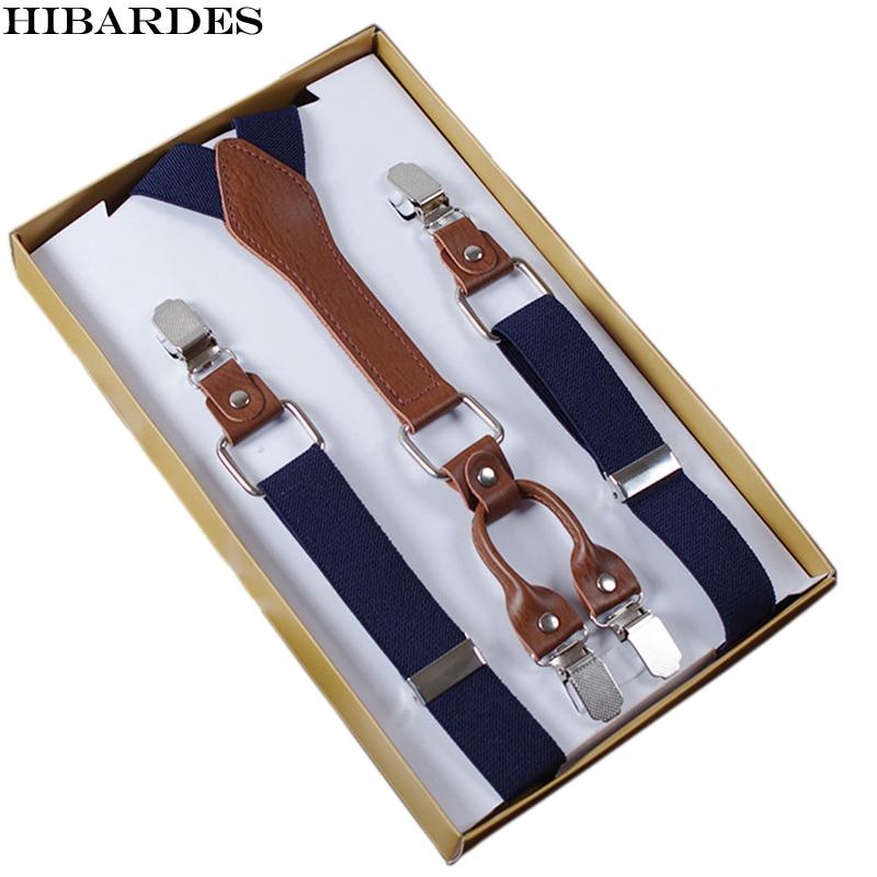 4 Clip font b Men s b font Suspenders Men Braces Supports tirantes For Women Elastic
