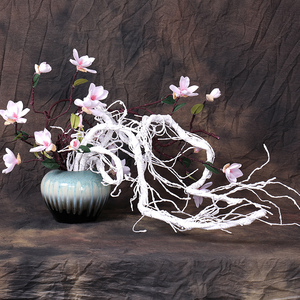 Image 3 - 300cm Artificial fake tree Plants Real touch branches liana Wall Hanging Rattan Plastic flexible flower vines Wedding Decoration