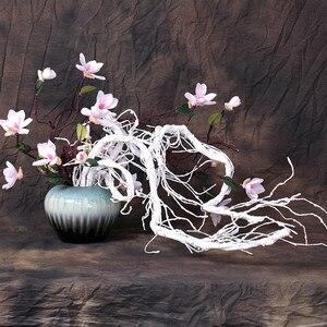 Image 3 - 300cm מלאכותי עץ מזויף צמחים אמיתי מגע סניפים ליאנה קיר תליית קש פלסטיק גמיש פרח גפנים חתונת קישוט