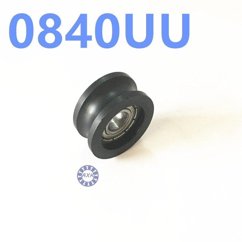 все цены на  U groove ball bearing 0840UU BU0840 608ZZ 608Z 608 window and door bearing 8x40x20.7mm Guide Pulley Sealed Rail  онлайн