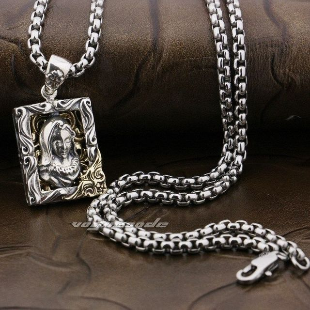 dp wolf steel necklace black tribal link aoiy s biker quot chain stainless pendant men