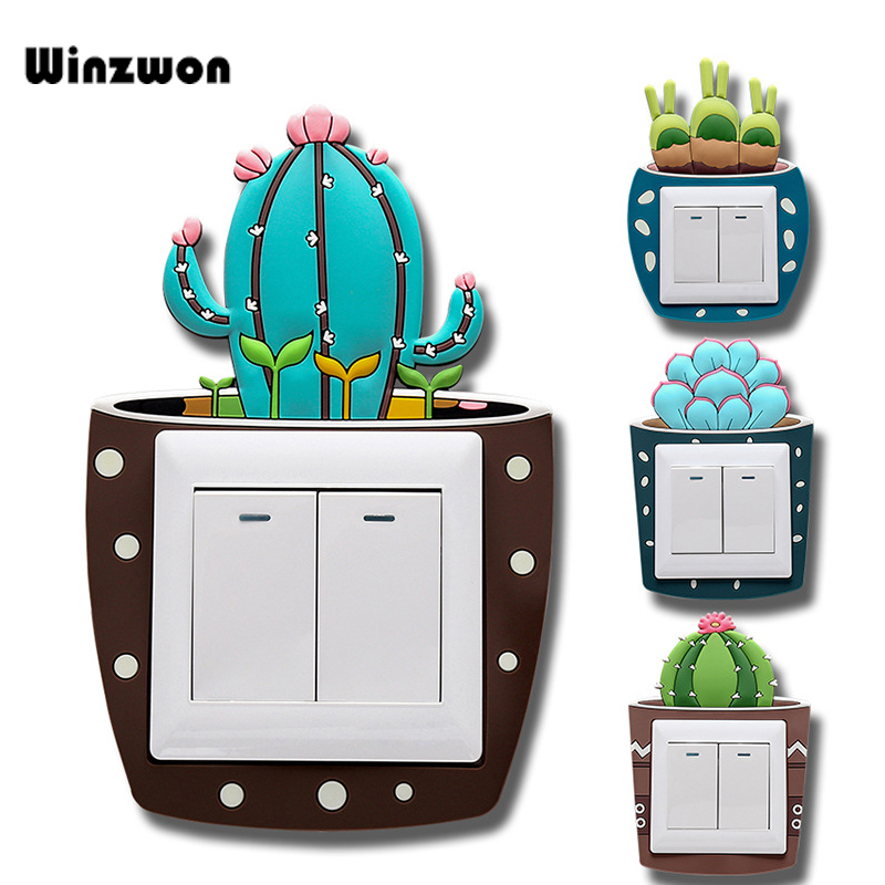 1Pcs Creative Silicone Light Wall Switch Cover Luminous Wall Sticker Socket Switch Protector For Bedroom Livingroom Baby Nursery