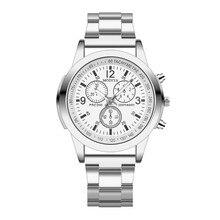 Fshion Stainless Steel men's watches 2018 Leisure alloy Sport Quartz Hour Wrist Analog Watch horloges mannen met datum A70