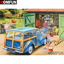 HOMFUN 5D DIY Diamond Painting Full Square/Round Drill Car Scenery Embroidery Cross Stitch gift Home Decor Gift A08337 homfun 5d diy diamond painting full square round drill aircraft scenery embroidery cross stitch gift home decor gift a08494