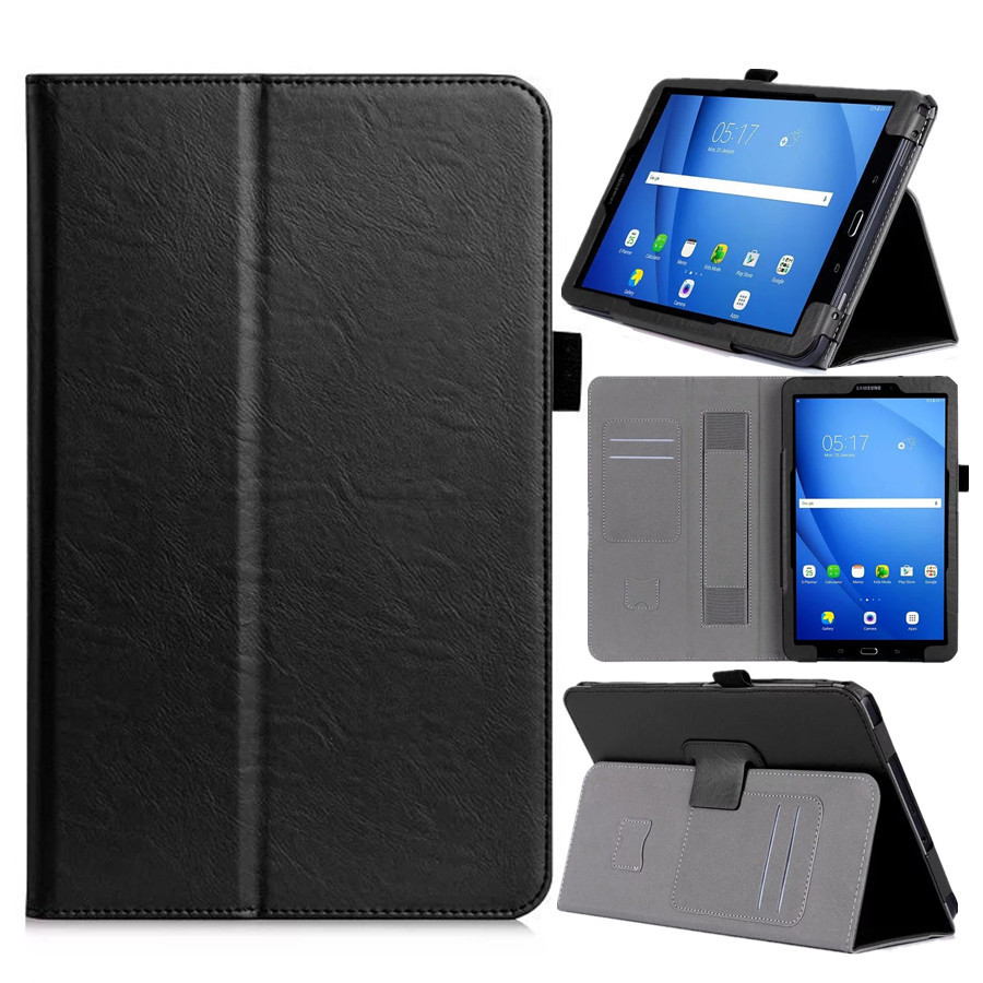 PU Leather Case Stand Cover for Samsung Galaxy Tab A A6 10.1 2016 T580 SM-T585 T580N Cases Cover with Hand Holder Card Slots protective pu leather plastic case w card slots foldable stand for samsung galaxy s5 brown