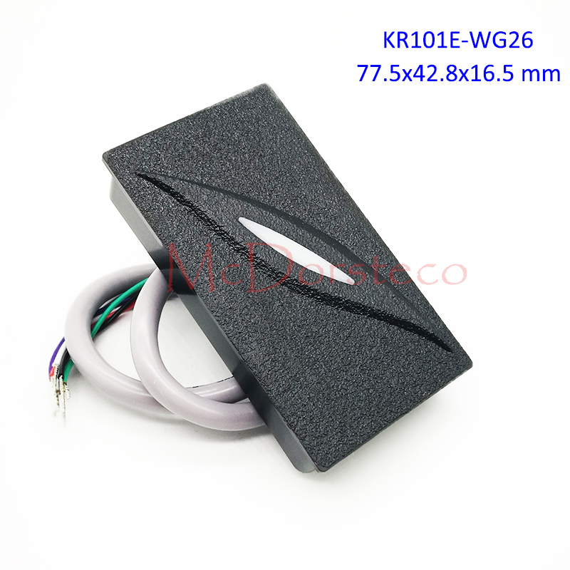 10PCS KR101E/KR101M Proximity Card Reader Wiegand 26/34bit KR101 125khz 13.56mhz Ip65 Waterproof Access Control Slave Reader