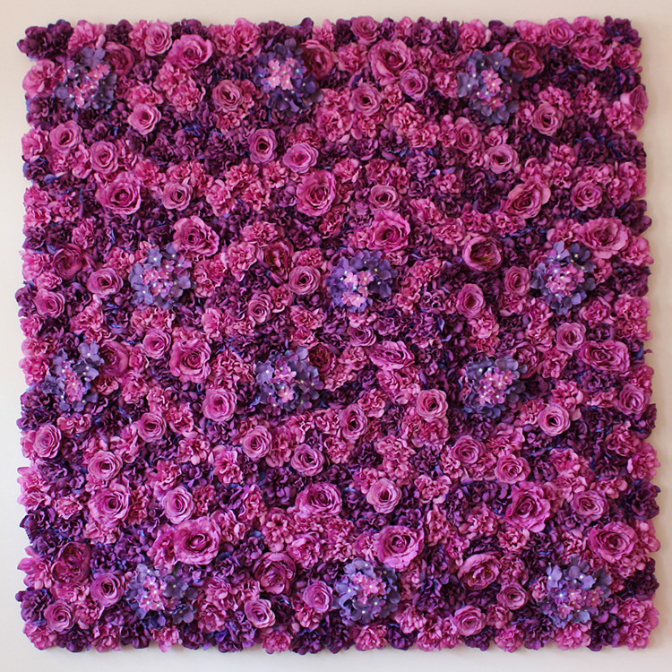 10pcs/lot Voilet Wedding Flower Wall For Stage Or Backdrop Wedding Artificial Flower Decoration Rose Hydrangea Flower High Quality Goods Artificial & Dried Flowers Home & Garden
