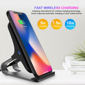 Image 5 - Ascromy Qi Draadloze Oplader Voor iPhone X XS Max XR 8 Plus Samsung S10 Docking Station Telefoon Houder Stand Snelle charger Inductie