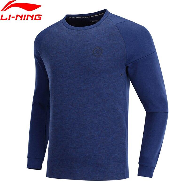 Li-Ning Men Wade Sweatshirt Regular Fit 66% Cotton 34% Polyester LiNing Li Ning Sports Tops Pullovers Sweaters AWDP089 MWW1567