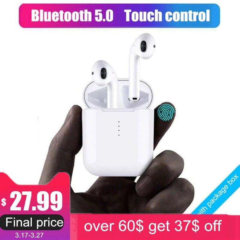 Nuevo i10 tws auricular Bluetooth inalámbrico auriculares de control táctil auriculares 3D de sonido envolvente y caso de carga para todos los teléfonos inteligentes