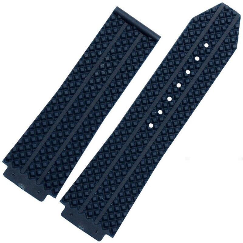 Horloge Accessoires Siliconen Band Voor Hublot Hublot Yu-schip Rubber Band Bolle Zwart Wit Blauw