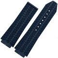 Watch accessories Silicone strap for Hublot HUBLOT Yu-ship rubber strap convex black white blue
