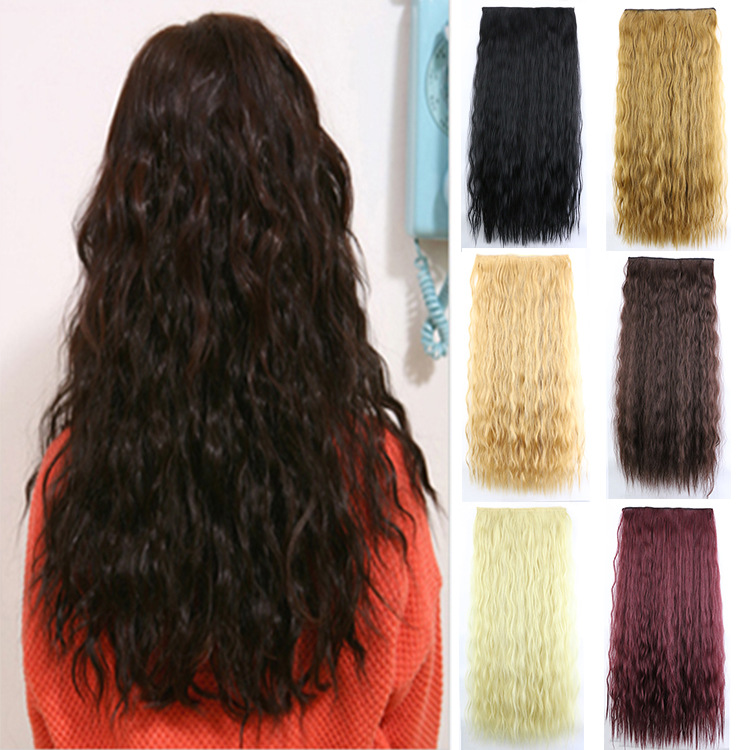 Soloowigs Kinky Curly High Temperature Fiber Women Hairpieces 60cm