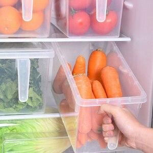Image 4 - 2 шт кухонный прозрачный PP ящик для хранения зерна содержит герметичный Домашний Органайзер контейнер для еды холодильник коробки для хранения
