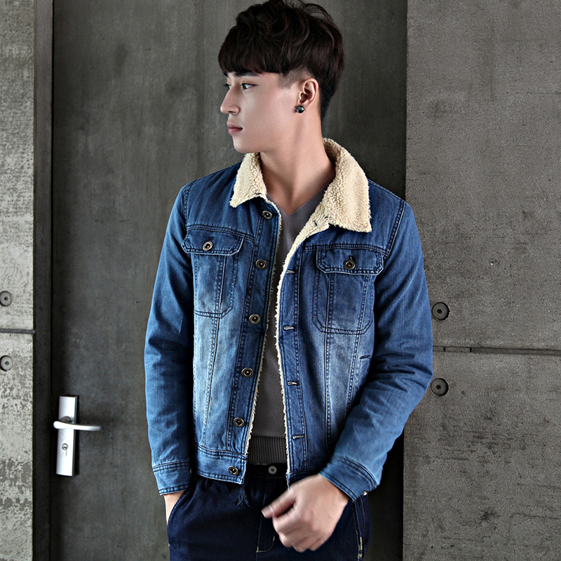 Denim jacket with fur collar men online shopping-the world largest ...