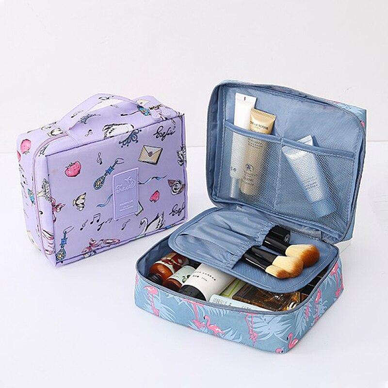 Pouch Cosmetic-Bags Makeup-Organizer Bathroom-Accessories Girl Lipstick Travel Eyelash-Brush
