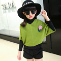 2016 The New Leisure Children's Jackets Girls Fall Paragraph Batwing Coat Children In Children's Sweaters Children's Clothes