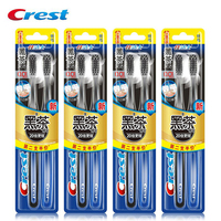 Crest Toothbrush Soft Bristle bamboo Tooth Brush Teeth Whitening Deep Clean Gum Care 2 pcs*4