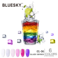 1PCS Glaze01-06 Bluesky New best top Colors UV LED Gel Nail Polish,Easy Soak Off Nail Art Gel Polish 10ml