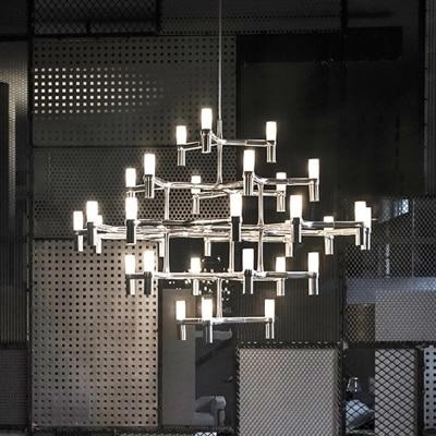 Vitrust Nordic Chandeliers Lighting Lampadari Kroonluchter luchters lampadario Modern Candle Crown Lamps led lustres para sala Pendant Lights     - title=