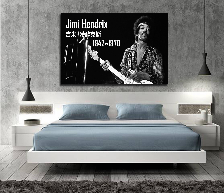 James Marshall Famous Guitarist Art Wall Home Decor