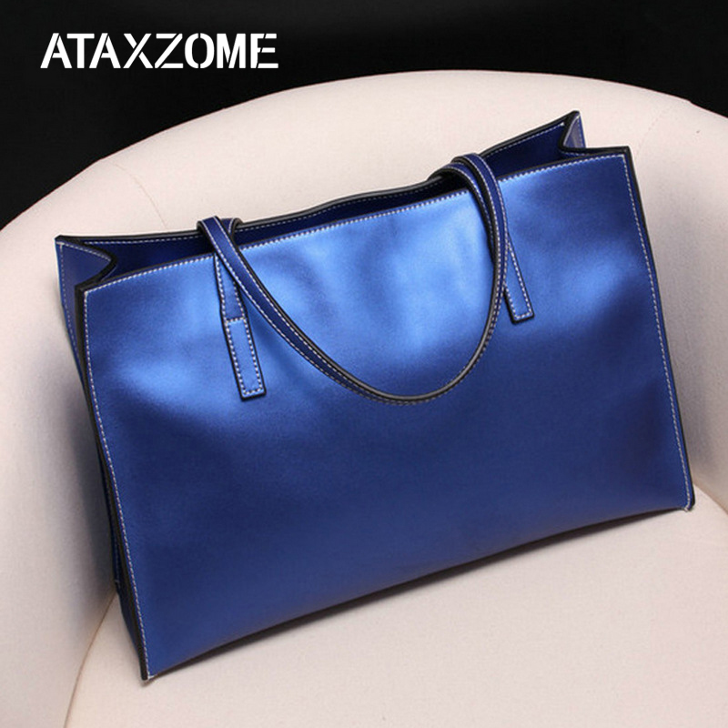 New fashion Real Cowhide Women handbags Large Capacity Totes Big Pearlescent Messenger Slung Shoulder Bag Genuine Leather Bags цена в Москве и Питере