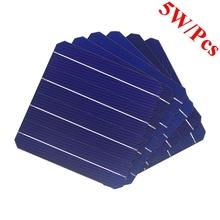 40 sztuk 5 w sztuk Panel solarny monokrystaliczny 156*156mm dla majsterkowiczów fotowoltaiczne Mono Panel słoneczny tanie tanio vikocell Ogniwa słoneczne Monokryształów krzemu BS156-4BB 156MM * 156MM 0 5V Grade A Blue 200um