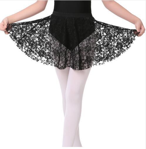 New Black Lace Elastic Ballet Dance Skirt Children Girls Ballet Dance Costumes For Kids
