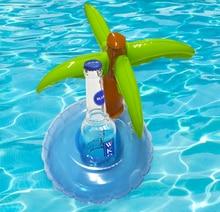 5 Pieces/Set Mini Coconut Tree Drink Holder Inflatable Floats Swim Pool
