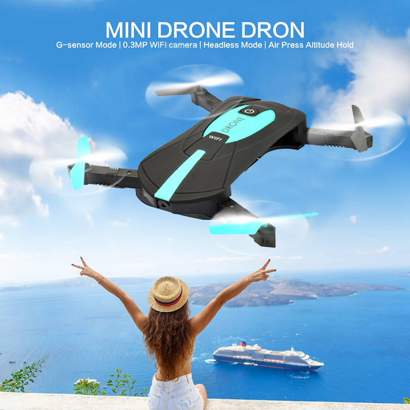 Mini Pocket Drone Foldable Selfie RC Helicopter with 2MP 720P Camera HD Professional WiFi FPV Arms Headless Dron VS JY018 H37 jy018 elfie wifi fpv quadcopter mini foldable selfie drone rc drones with 0 3mp 2mp camera hd fpv vs h37 720p rc helicopter