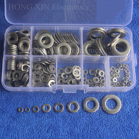 360Pcs Set M2 M2 5 M3 M4 M5 M6 M8 M10 304 Stainless Steel Flat Washer