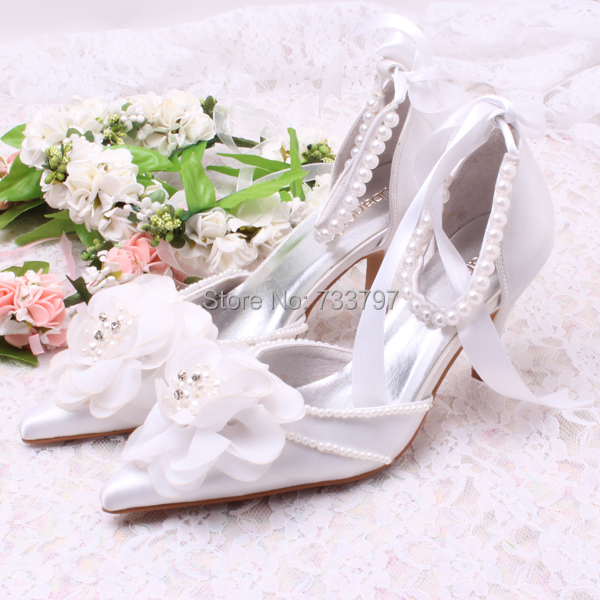 ФОТО Wedopus New Arrival Beaded Ankle Strap Big Flower Sandal Party Bridal Wedding Shoes for Lady