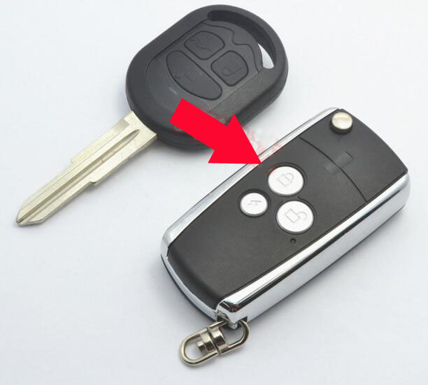 3 Buttons Replacement Modified Flip Folding <font><b>Remote</b></font> <font><b>Key</b></font> Shell Case For Buick <font><b>Excelle</b></font> HRV Fob <font><b>Key</b></font> Cover (After 2005 year) image