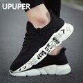 Upuper 2019 malha respirável sapatos masculinos tênis homem leve rendas sapatos de caminhada esportes para homens tenis zapatos plus size