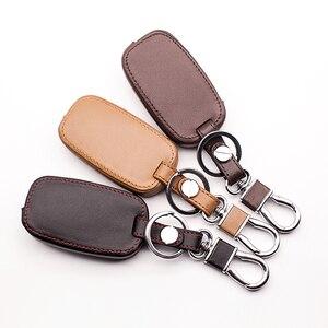 Image 5 - New design leather key case keyboard cover For Kia Rio QL Sportage Ceed Cerato Sorento K2 K3 K4 K5 Fin Key Chain car key case
