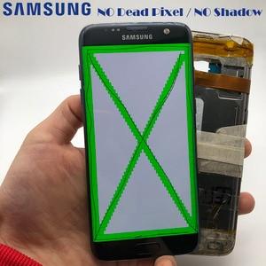 Image 3 - 2560 × 1440 オリジナル 5.5 スーパー amoled 液晶ディスプレイフレームサムスンギャラクシー S7 エッジ G935 G935F G935FD lcd タッチスクリーン