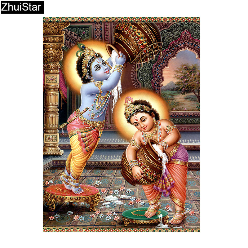 Diamond Painting Cross Stitch Religion Indian Gods Diamond Mosaic Diamond Embroidery Rhinestones Home Decor XY1
