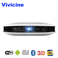 Vivicine 1080 p 3D 4 K проектор, Android WIFI HDMI USB Full HD мини ПК игровой домашний кинотеатр проектор фильмов 12000 mAh аккумулятор