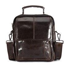 Luxury Men's Messenger Bag Vintage Genuine Leather Shoulder Bag Handsome Crossbody Handbag Bag Large Capacity Tote Free Shipping