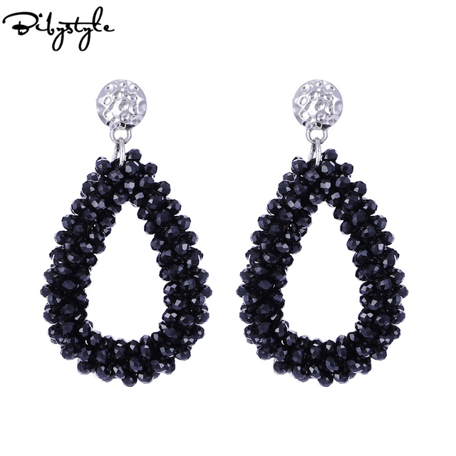 BibyStyle Water Drop Oorbellen Crystal Beads Big Dangle Earrings For Women Weddi