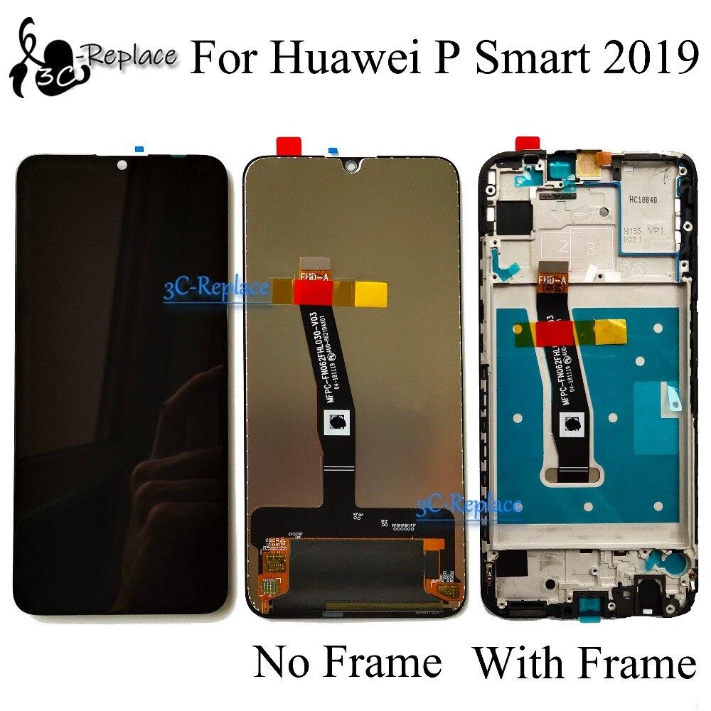 Оригинальный 6,21 дюймов Новый Для Huawei P Smart 2019 POT-LX3 POT-L23 POT-LX1 ЖК-дисплей, сенсорный экран, дигитайзер, для сборки, с корпусом